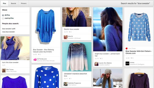 exemple de board Pinterest