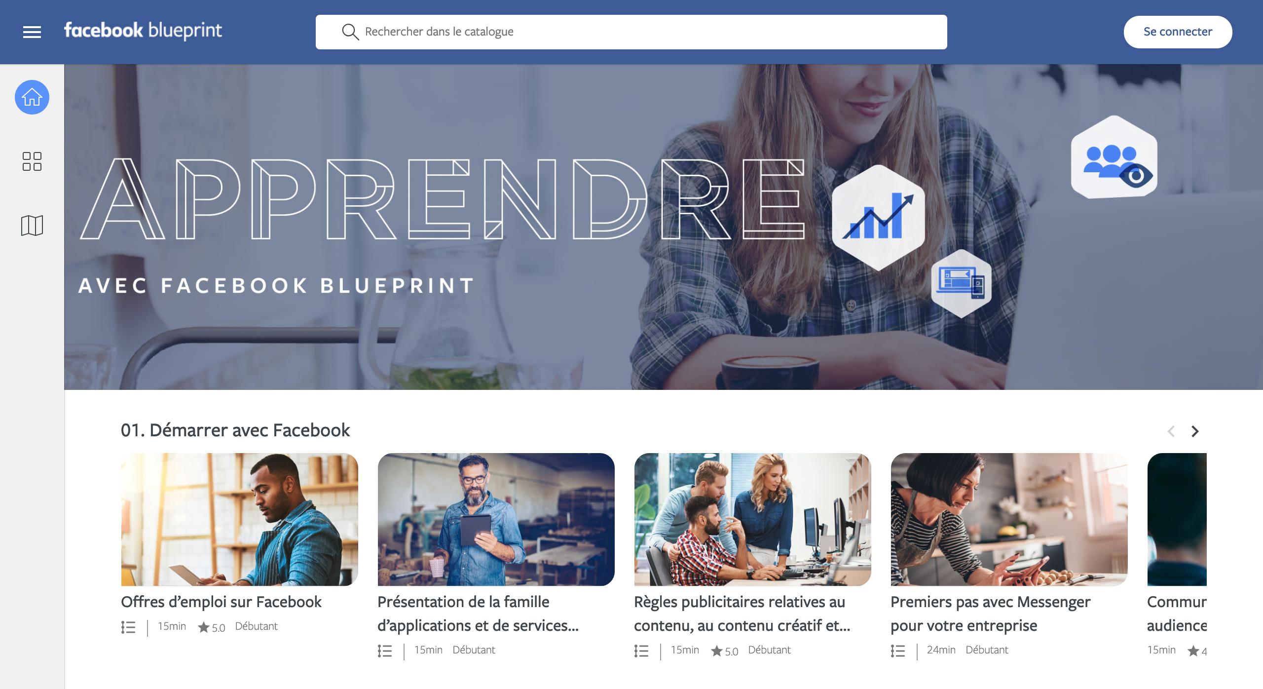 Facebook Blueprint Cours en ligne