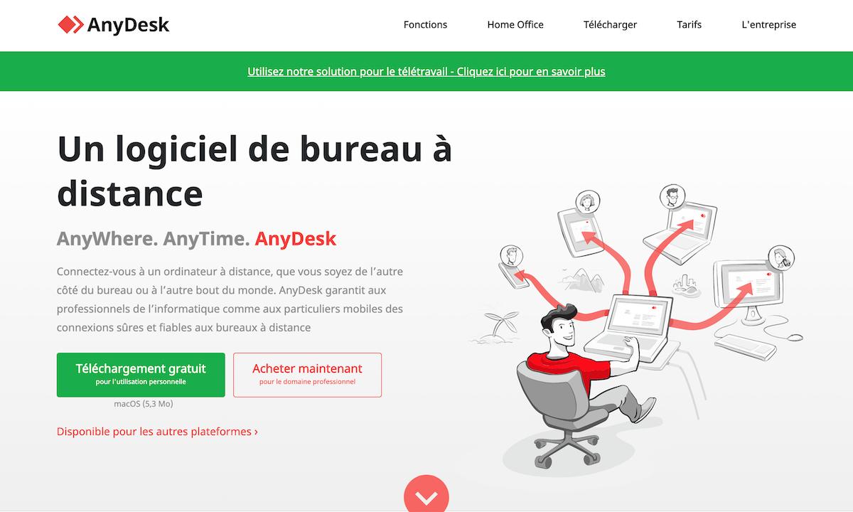 Any desk partage d'écran à distance gratuit